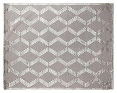 One Kings Lane - Ready Your Rooms - Metro Velvet Rug, Silver