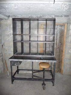 Ancien meuble de tri postal mobilier industriel art for Meuble tri postal occasion
