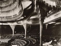 """bewarethebibliophilia: """"The tremendous Großes Schauspielhaus (Great Theatre), designed in an expressionist style by Hans Poelzig in in a former Berlin circus arena. Beautiful Architecture, Modern Architecture, Schauspielhaus Berlin, Hans Poelzig, Interesting Buildings, Museum, Concert Hall, Installation Art, Arquitetura"""