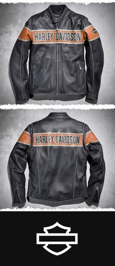 Never one to run with the crowd, you need a motorcycle jacket that is as unique as you. | Harley-Davidson Men's Victory Lane Leather Jacket