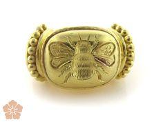 Elizabeth Locke 19k yellow gold Fat bee ring | Be On Park