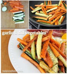 Garlic & Dill Veggies - easy & Paleo Cooking carrots in a pan with sufficient fat and seasonings will allow them to brown just enough to caramelize and give them that deliciously roasted taste in less than half the time. Try this recipe with any root vegetables you like, or a mix of roots and any other crunchy veggies. #balancedbites #garlic&dill #vegetables