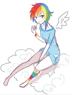 Rainbow Dash Human Form! by HinaKitteh.deviantart.com on @deviantART