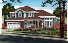 Bungalow Craftsman European House Plan 24262