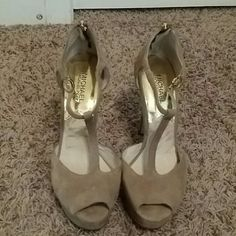 BRAND NEW MICHAEL KORS heels.... Soft suade, extremely comfy, new never worn... MICHAEL Michael Kors Shoes Heels