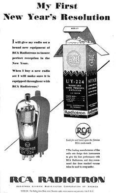 Vintage audio RCA Vacuum tube Ad