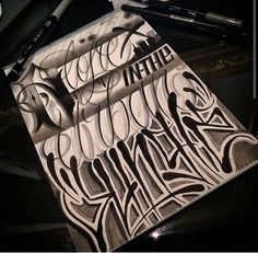 Chicano Lettering Chicano Tattoos Lettering, Graffiti Tattoo, Graffiti Lettering, Tattoo Fonts, Lettering Styles, Script Lettering, Typography, Tattoo Patterns, Chicano Art