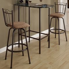Upgrade The Look Of Your Décor With This Space Saving Bar Table. This Table  Is Made From Metal And Laminate Faux Marble. Featuring Adjustable Legs And  A ...