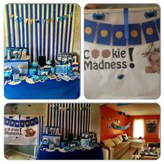 Cookie Monster Theme Birthday Party