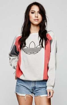 Retro Gold Vintage Adidas Crew Fleece at PacSun.com - PACSUN on InStores