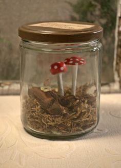 Mushroom Assemblage  glass by mothsandrustshop on Etsy, $15.00