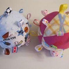 Baby Ribbon Balls: Tutorial