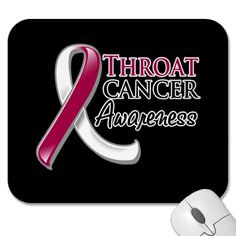 Throat Cancer Awareness Ribbon Mousepad (Not all throat cancer comes from smoking my husband has it and he has never been a smoker)