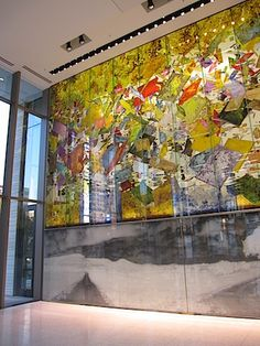 Two story glass feature wall at Austin Federal Courthouse