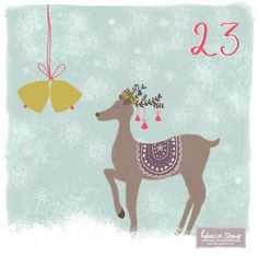 Day 23 Jingle Bells by Rebecca Stoner www.rebeccastoner.co.uk