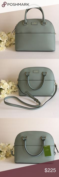 "Kate Spade NEW Purse 💙 Brand new purse in perfect condition, never been used!  Soft leather! Has handles for carrying and a remove-able strap for over the shoulder!  Dimensions: 12"" long, 10"" tall, 5"" wide  *No Trades. kate spade Bags"