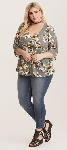 Plus Size Babydoll Top - Plus Size Fashion for Women #plussize