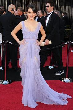 Mila Kunis in Elie Saab (Spring 2011) Couture at the Oscars, 2011 (Getty Images)