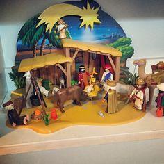 Ya está montado el #belén. #playmobil #Navidad