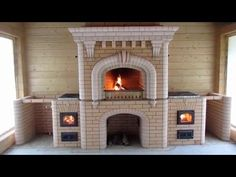 Wood Stove Hearth, Bbq House, Brick Bbq, Earthship, Brickwork, Door Design, Backyard, Outdoor, Moldova