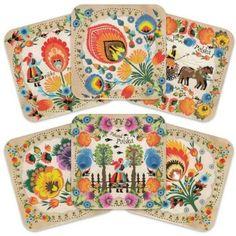 Cork Coasters - Polish Folk Art (Wycinanki). LOVE!!1