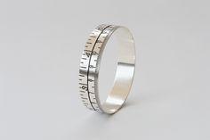 www.joannacampbell.co.nz tape measure bangle in oxidised sterling silver
