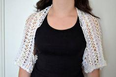 Crochet White Bolero par contesdemaison sur Etsy, $45.00