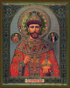 Icon of the Saint ~ Martyr ~ Passion Bearer Nikolai Alexandrovich Romanov of Russia Tsar Nicolas, Tsar Nicholas Ii, Paint Icon, Religious Pictures, Russian Orthodox, Imperial Russia, Orthodox Icons, Russian Art, Saints