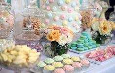 Melissa pastel wedding candy buffet