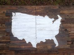 Pallet Art Map of United States US by RescuedandRepurposed on Etsy, $275.00