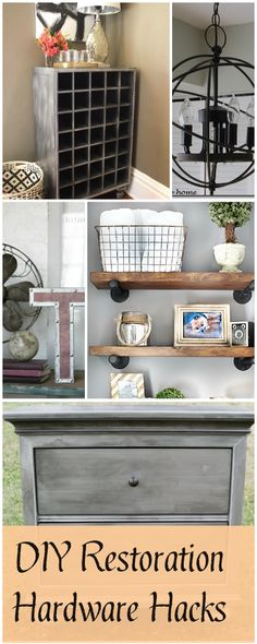 DIY Restoration Hardware Hacks! • Tutorials!