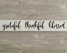 Thankful and Blessed Thanksgiving Sign Rustic by TheRusticRaven15