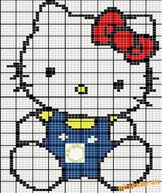 hello kitty cross stitch pattern diy
