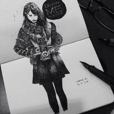Lamy fountain pen on sketchbook - Rolleiflex camera