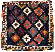 48. Shah Sevan kilim chanteh (purse) c1900