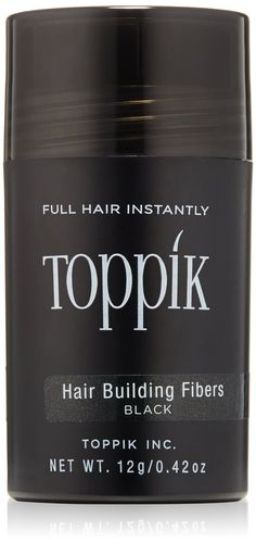 TOPPIK Hair Building Fibers gives you thicker, fuller hair that looks natural and coloured with Keratin protein so that hair looks original shining. Find more Men's Black Hair Care Products!