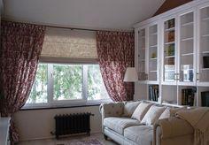 #римская_штора из натурального льна Linen Instincts #galleria_arben стала отличным дополнением этой уютной гостиной Дизайн @oves_studio