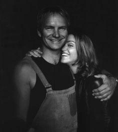 Rare photo of Sting and Madonna