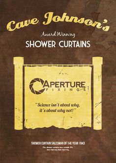 Cave Johnson's Shower Curtains