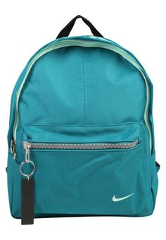 """Nike Performance. Rucksack - blustery/black/mint foam. Pattern:Print. Sport:Training. Fastening:Zip. Compartments:mobile phone pocket. length:10.0 """" (Size One Size). width:4.0 """" (Size One Size). Lining:Polyester. carrying handle:2.5 """" (Size One Size). ..."""