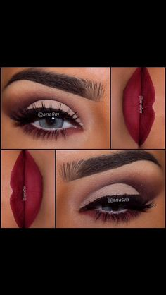 Lovely look from using Eyeshadow's from morphebrushes palette & toofaced Chocolate Bar palette, Lips source. Love the sultry look. Makeup Black, Fall Makeup, Makeup Goals, Makeup Tips, Beauty Makeup, Pretty Makeup, Love Makeup, Makeup Obsession, Kiss Makeup