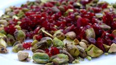 Goat Cheese with Pistachios and Cranberries. A perfect Christmas appetizer! Easy too.