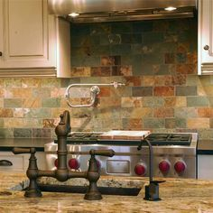 Stone Kitchen Backsplashes Made Of Granite Marble Slate Travertine Limestone Soapstone