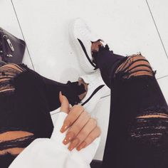 """2,288 Likes, 3 Comments - www.hot-mess.co.uk (@hotmessclothing) on Instagram: """"Distressed everything 🙌🏻 H!RN Black Fray Hem Jeans - £28"""""""