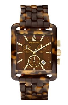 Free shipping and returns on Michael Kors 'Eva' Resin Chronograph Watch at Nordstrom.com. A tortoiseshell pattern lends sophistication to a resin bracelet watch featuring a chronograph dial illuminated by sparkling indexes.