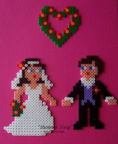 Married couple hama beads by ILUSIONES SCRAP: