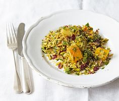 This quick and easy midweek dinner is cooked entirely on the hob and is full of lots of lovely root veg. The orzo makes a nice change from your usual pasta too.