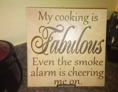 MUST HAVE. My Cooking is Fabulous Ceramic Tile, Home Decor, Kitchen Decor. $20.00, via Etsy.
