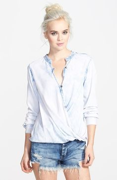 BLANKNYC+'Sugar+Baby'+Denim+Shirt+available+at+#Nordstrom