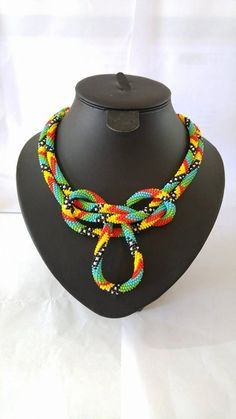 FREE SHIPPING  Extra Long Beaded Crochet by SERMINCEJEWELRY